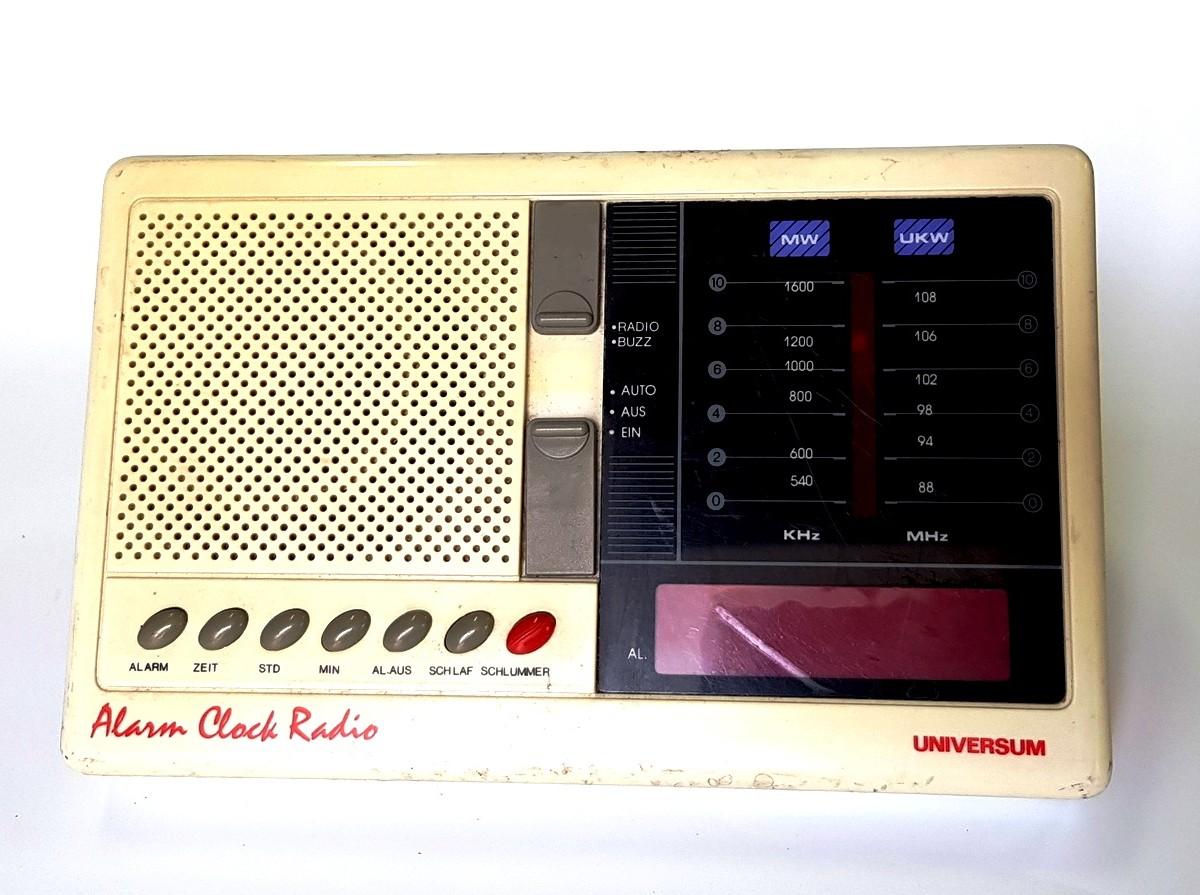Коллекционное, винтажное радио + будильник Universum